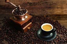 Free Espresso Coffee Royalty Free Stock Photography - 24232667