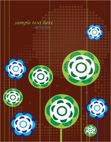 Free Geometric Flowers Royalty Free Stock Image - 24233946