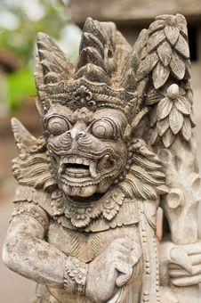 Free Statue Of Balinese Demon Royalty Free Stock Image - 24234396