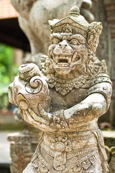 Free Statue Of Balinese Demon Royalty Free Stock Photos - 24234488