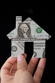 Free Banknote House Icon Royalty Free Stock Photography - 24236977