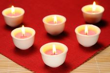 Free Burning Candles Royalty Free Stock Photo - 24237485