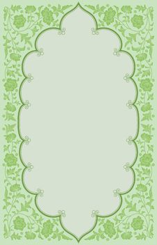 Free Green Tone Ancient Flowoer Frame Background Stock Images - 24239714