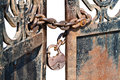 Free Lock On Gate Stock Images - 24243454