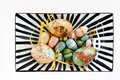 Free Colourful Easter Eggs On A Plate Royalty Free Stock Image - 24247456
