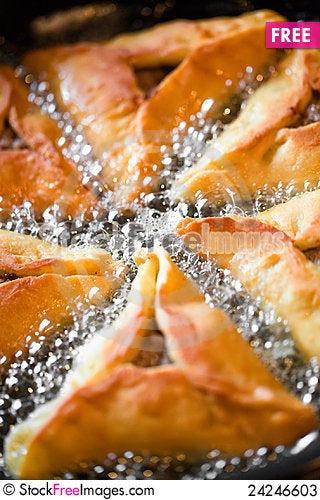 Free Frying Pies On Pan Stock Photos - 24246603