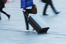 Free Travelling Person With A Trolley Case Stock Photo - 24244810