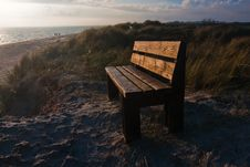 Bench On A Dune Stock Photography