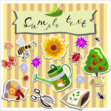 Free Gardening Scrapbook Elements Stock Image - 24246861