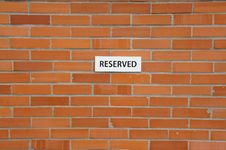 Free Brick Wall With Notification´s Sheet Royalty Free Stock Image - 24247236