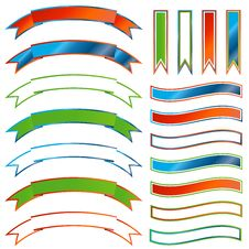 Free Set Of Ribbons Stock Photography - 24247472