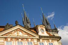 Free Architectural Facade, Prague. Stock Photo - 24247830