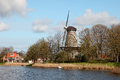 Free Old Windmill In Dutch Landscape Stock Photos - 24254653
