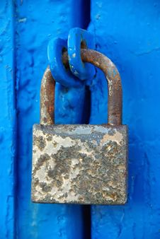 Free Rusty Padlock Royalty Free Stock Photography - 24250727