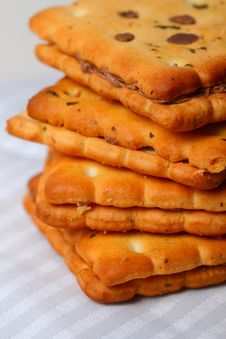 Free Stacked Biscuits Stock Photography - 24252942