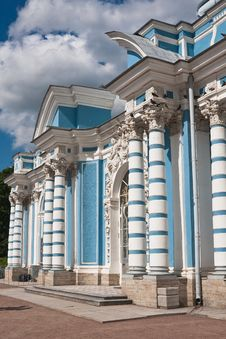 Russia. Tsarskoe Selo. Pavilion Grotto Stock Photo