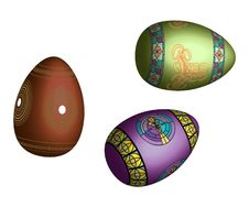 Free Colorful Easter Eggs Stock Images - 24254414
