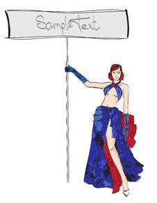 Free SKETCH. Fashion Girl. Stock Photo - 24254620
