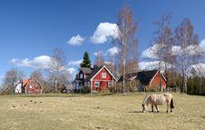 Free Idyllic Swedish Countryside Landscape Stock Image - 24256441