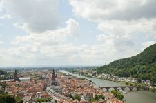 Free Panorama Views Of Heidelberg Cityscape In Germany Royalty Free Stock Photos - 24257088