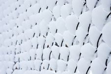 Free Snow Mesh Fence. Royalty Free Stock Photos - 24258428