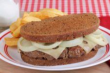 Free Patty Melt Sandwich Royalty Free Stock Image - 24259696