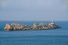 Free Island With Lighthouse, Croatia Royalty Free Stock Photography - 24264217