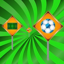 Football Signs Stock Photo