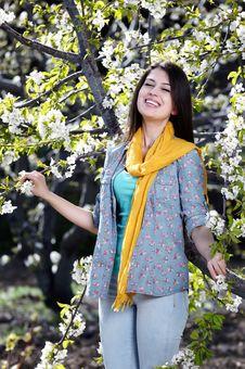Free Beautiful Women Was Blossoming Garden Stock Image - 24266521