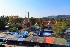 Free Market At The Temple Wat Chalong In Phuket Royalty Free Stock Photography - 24266667