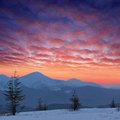 Free Winter Landscape At Sunset Royalty Free Stock Image - 24273876