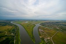 Free Aerial View On The River Royalty Free Stock Images - 24273699