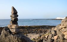 Tropical Stone Stack Stock Images