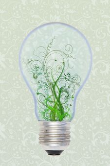 Free Green In The Bulb Stock Photography - 24275912