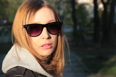 Free Girl In Sunglasses Royalty Free Stock Photography - 24279487