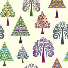 Abstract Trees On Light Background Royalty Free Stock Photo