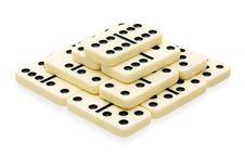 Free Domino Pyramid Building Stock Photo - 24287460