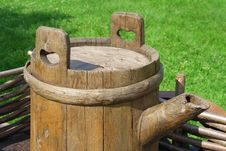 Free The Old Barrel On The Wagon Stock Photos - 24288493