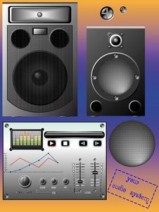 Audio System Royalty Free Stock Photo