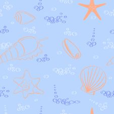Free Vector Seamless Background. Royalty Free Stock Photography - 24289447