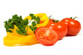 Free Tomatoes, Peppers And Parsley Royalty Free Stock Image - 24290946