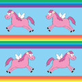 Free Seamless Pattern With Cartoon Magic Horse Stock Photography - 24292402