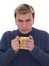 Free Man With Cup Of Hot Drink Royalty Free Stock Photography - 24293737