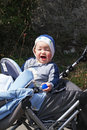 Free Baby Boy Rides In The Stroller Stock Photography - 24293852