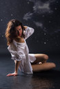 Free Pretty Girl Posing In Studio Stock Photography - 24299052