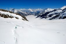 Free View Of Glacier In Swiss Alps Royalty Free Stock Photo - 24290885