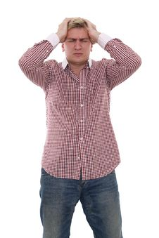 Free A Man With Headache Stock Photography - 24293672