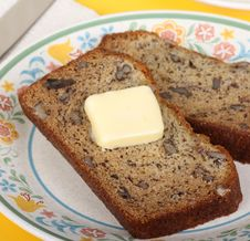 Free Nut Bread And Butter Royalty Free Stock Photos - 24293718