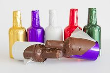 Free Delicious Chocolate Bottles Royalty Free Stock Photo - 24298665