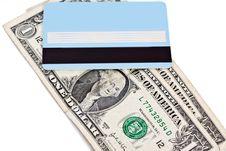 Free Bank Credit Card And Dollars Royalty Free Stock Photo - 24299045